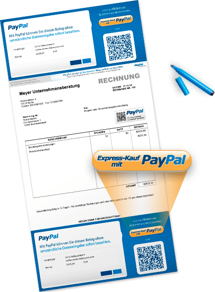 paypal express rechnungen mit qr code bezahlen tagmotion. Black Bedroom Furniture Sets. Home Design Ideas
